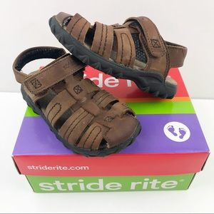 Stride Rite Hudsen Brown Fisherman Sandals 6.5W